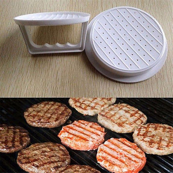 NEW Plastic Burger Press Hamburger Meat Beef Grill Cooking Maker Kitchen Mold 1