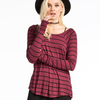 VOLCOM Lived In Rib Womens Tee 239526327 | Raglans & L/S Tees