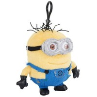 "Despicable Me Minions ""Jerry"" 6"" Plush Backpack Bag Clip"
