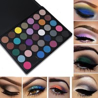 35 Colors Matte Eyeshadow Palette Shimmer Makeup Earth Warm Smoky Eye shadow Morphing Palette 35A/35B/35C/35O/35T/35W Maquiagem