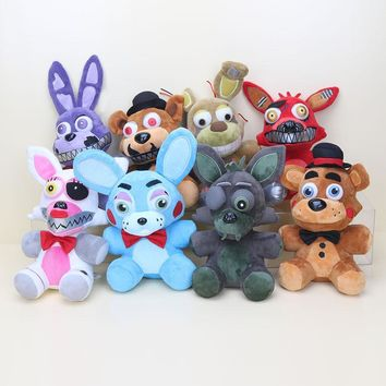 8 new styles 25cm  At  toy  Nightmare Mangle Foxy Freddy bonnie Springtrap Phantom Foxy Plush Toys