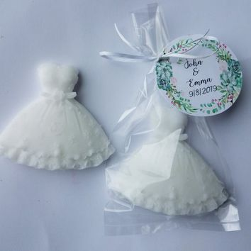 Bridal Shower Favors | Wedding Dress Personalized for Guests Custom Scent Quinceanera, Pack of 10