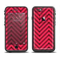 The Red & Black Sketch Chevron Apple iPhone 6 LifeProof Fre Case Skin Set