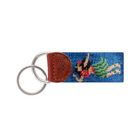 Hula Girl Needlepoint Key Fob in Blueberry by Smathers & Branson