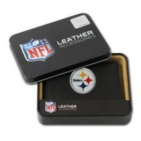 Pittsburgh Steelers Men's Black Leather Tri-fold Wallet | Overstock.com
