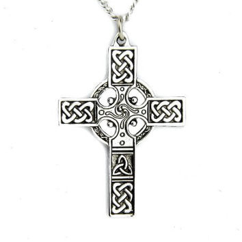 Celtic Cross Necklace Nordic Warrior Pendant Sheamus Jewelry