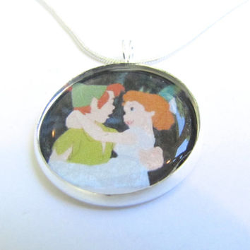SaLe-Peter Pan  and WENDY necklace---tinkerbell-disney--never land