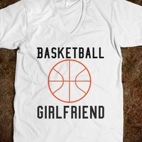 Basketball Girlfriend-Unisex White T-Shirt