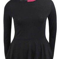 Sophia Long Sleeved Peplum Top