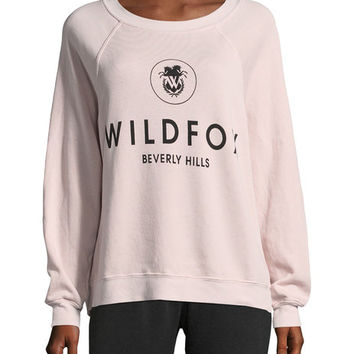Graphic Cotton Sweatshirt by Wildfox at Gilt