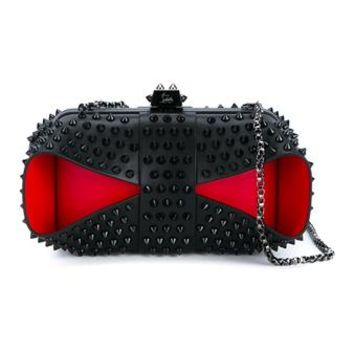 CHRISTIAN LOUBOUTIN | Grandotto Spike Leather Clutch | Womenswear | Browns Fashion