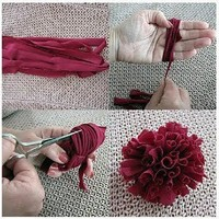 How-To and DIY / T-shirt yarn flower. These look like dahlias!