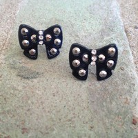 Black Bow Earrings from Country Wind