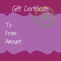 Jamberry Gift Certificate set of 25 printed