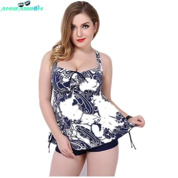 Bathing Suits Women Sexy Two Piece Swim Suits Plus Size Swim Suit Backless Printed Swim Skirts Tankini Swimsuits