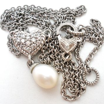 Judith Ripka Sterling Silver Pearl Necklace
