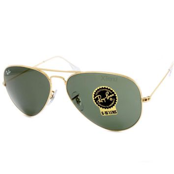Ray Ban RB3025 L0205 Aviator Gold/G15 Green Sunglasses Size 58