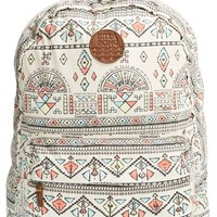 Junior Women's Billabong 'Hand Over Love' Geo Print Backpack