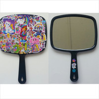 Lisa Frank / hand mirror / 90s kid / Nostalgia / Colorful / Girls hand mirror / Kawaii / Lisa frank stickers / Hollywood bear / Rainbow