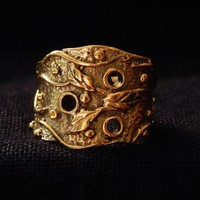 Brass Ring , Brass engraved Indian ring