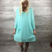 Follow Your Heart Dress in Mint - CLOSEOUT