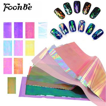 10 Sheets 20cm explosions Japan and Korea Symphony irregular broken glass mirror foil nail sticker nail Aurora glass paper