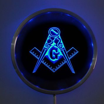 Masonic LED  Multi-Color Changing Sign with Remote Control