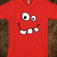 Funny goofy cartoon face with big teeth t-shirt