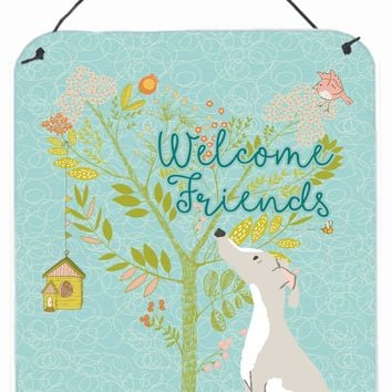 Welcome Friends Italian Greyhound Wall or Door Hanging Prints BB7636DS1216