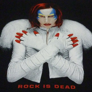 Marilyn Manson Rock is Dead  T-shirt Omega And The Mechanical Animals Size L