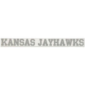 "Kansas Jayhawks 2"" x 19"" Silver Glitter Strip Decal"