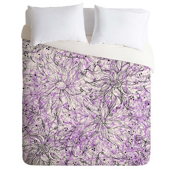 Lisa Argyropoulos Angelica Purple Duvet Cover