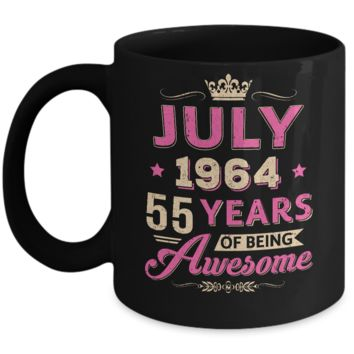 Vintage July 1964 55Th Birthday Gift Being Awesome Mug