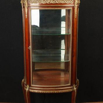 Canonbury - Antique French Empire Display Cabinet Bijouterie Glass Fronted