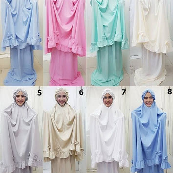 Prayer Dress Hijab Abaya Talakong Muslim Islamic Clothes Clothing