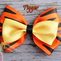 Tigger hair bow Winnie the Pooh hair bow disney inspired bow girls cowboy cute toddler