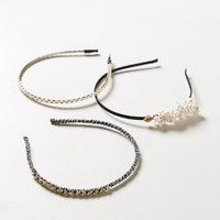 Charmed Headband Set by Anthropologie Black One Size Hair