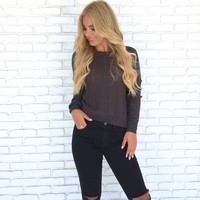 Cool Calm Distressed Knitted Sweater