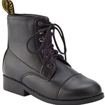 Saxon Kids Equileather Lace Paddock Boots