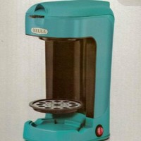 BELLA 13782 One Scoop One Cup Coffee Maker, Turquoise