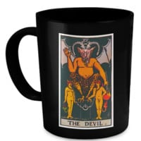The Devil Tarot Card Coffee Cup Mug devilmug