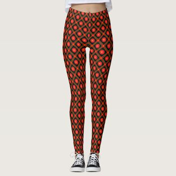 Dark geometric pattern leggings