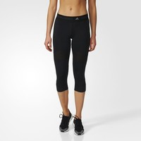 adidas Run Three-Quarter Tights - Black | adidas US
