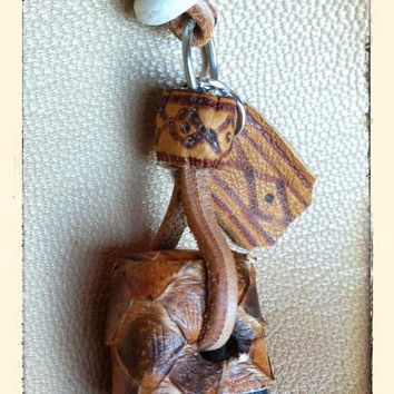 OOAK Pendant black bear claw in polymer clay. FREE SHIPPING