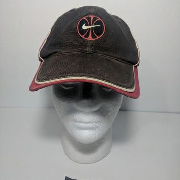 DCCK7BE Nike Hat SnapBack 90s Vintage Big Swoosh Sewn Circle Baseball Basketball Cap