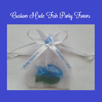 One fish Two Fish, Baby Shower, Dr Seuss, Fish Soap, One Fish Two Fish Favors, Baby Shower Favor, Gender Reveal Favor, Birthday Party Favor