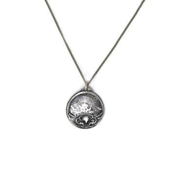 Swim Medal Necklace, Sterling Silver