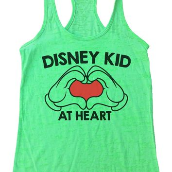 Disney Kid At Heart Womens Burnout Tank Top By Funny Threadz