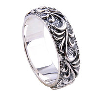 .925 Sterling Silver Ping Pattern Textured Men's Ring Fine Jewelry Fashion-Size 10