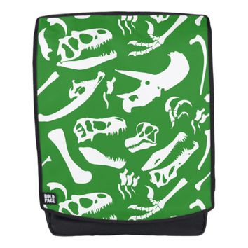 Dinosaur Bones (Green) Backpack